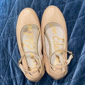 Sam Edelman Blush Nude Ballet Flats w/ Ankle Straps
